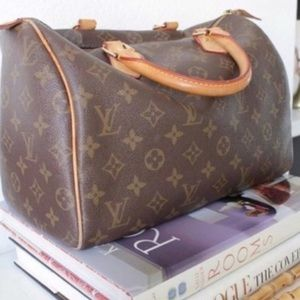 Auth Louis Vuitton Speedy Bag Satchel #922L15